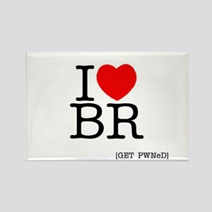 I heart BR [I love Battle Rif Rectangle Magnet